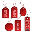 Vector sale Christmas tags — Stock Vector