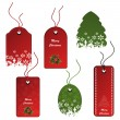Royalty-Free Stock Vector Image: Vector set of Christmas tags