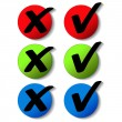 Stock Vector: Vector check mark buttons