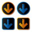 Vector ladda ner knappar — Stockvektor