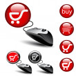 Vector - mouse shopping pointers — Stock Vector