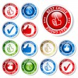 Vector set of best choice stickers — Stock Vector #11626249