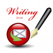 Vector icon for writing message — Stock Vector