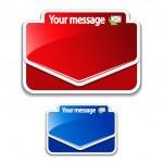 Vector message labels — Stock Vector