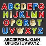 Vector stickers of alphabet — Stock Vector #11626374
