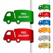Royalty-Free Stock Vector Image: Vector cars of free delivery