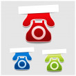 Vector phone labels — Stock Vector