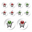 Постер, плакат: Vector add delete shopping cart item