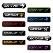 Vector buttons - add to cart — Stock Vector