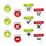 ������, ������: Vector add delete shopping cart item