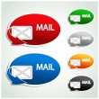 Vector stickers - mail icons — Stock Vector