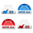 Vector winter sale board — Stock Vector