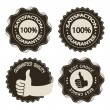 Vector brown satisfaction guarantee labels — Stock Vector