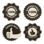 Vector brown satisfaction guarantee labels — Stock Vector #11626745