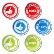 Royalty-Free Stock Vector Image: Vector satisfaction guarantee stickers - gesture hand