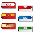 Vector 2012 labels - new year stickers - EPS 10 — Stock Vector #11626906