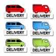 Stock Vector: Vector transport pointers - car delivery