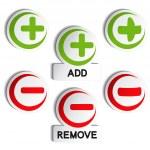 ������, ������: Vector add remove item plus minus