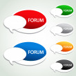 Stock Vector: Vector forum menu item - oval sticker