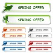 Vector notice board - spring offer label - 图库矢量图片