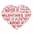 Vector notice board - valentines day grunge label - Imagen vectorial