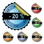 Vector business stickers — Stock Vector
