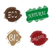 Vector eco stamps — Stock Vector