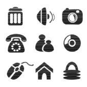 Vector iconos — Vector de stock