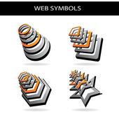 Vector shiny icons — Stock Vector