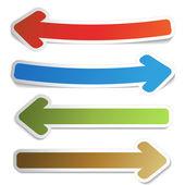 Vector set of arrows — Stock Vector