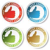 Vector sticker - best choice — Stock Vector