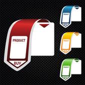 ショッピングのバナーをベクトルします。 — ストックベクタ