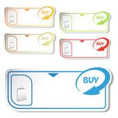 Vector shopping cards — Stock Vector