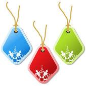 Vector Christmas tags — Stock Vector