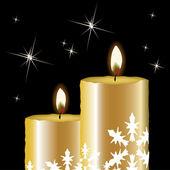Vector Christmas candles — Stock Vector