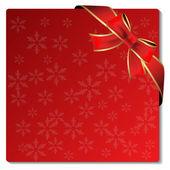 Vector Christmas card with bow — Stock Vector