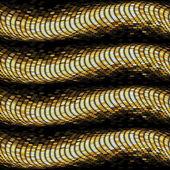 Vector golden dotted waves — Stock Vector