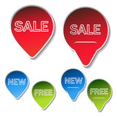 Vector sale sticker — Stock Vector