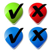 Vector check mark buttons — Stock Vector