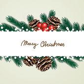 ベクトルのクリスマス カード — ストックベクタ