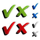 Vector checkmark ticks — Stock Vector