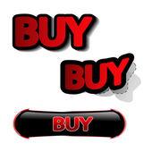 Vector buy stickers — Stock Vector