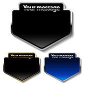 Vektor meddelande knappar — Stockvektor