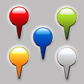 Vector set of color buttons — Stock Vector