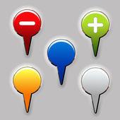 Vector conjunto de botones de color — Vector de stock