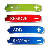 Vector stickers - add, remove — Stock Vector