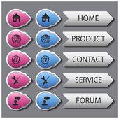 Vector web navigation templates — Stock Vector