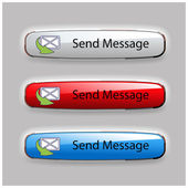Vector buttons of send message — Stock Vector