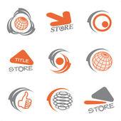Vector set of logos — Stock Vector
