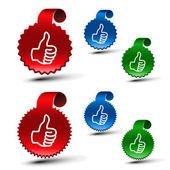 Vecteur série des meilleurs labels de choix — Vecteur